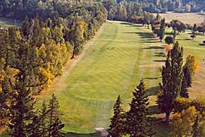 Aerial Shot of a golf fairway