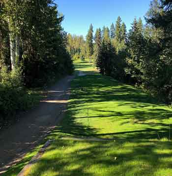 one of the beautiful fairways at Quesnel Golf